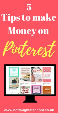 5 great tips to make money on Pinterest - Pinterest tips | Pinterest tips for business | Pinterest tips for bloggers | Pinterest tips and tricks | Pinterest tips how to use | Pinterest Tips | Bloggers | Pinterest Tips | Pinterest Tips and News |