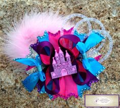Princess Castle Bow #Princessbow #hairaccessory #princess castle #hairbow