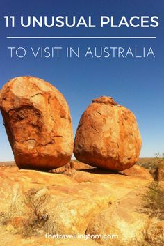 There are many great places to visit in Australia, and many reasons to visit the country. However, there are a number of unusual places to visit in Australia as well! You should definitely include these place on any Australian travelling itinerary!