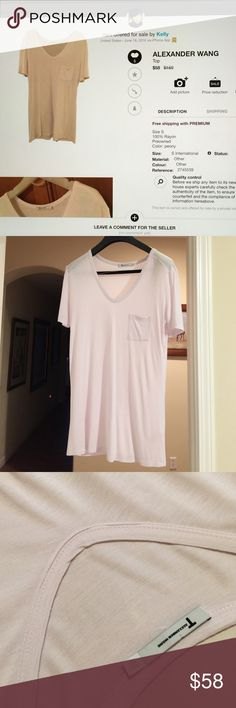 Alexander Wang Tee Size S, 100% Rayon, worn slightly in excellent condition, color;light peony Alexander Wang Tops Tees - Short Sleeve