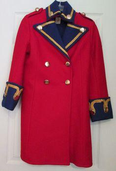 Michael Mott for Paraphernalia 1960s Vtg Wool Military Coat Sz XS S RARE  #MichaelMottforParaphernalia