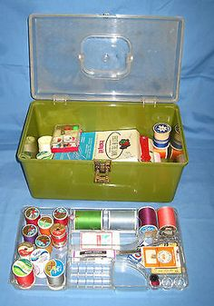 VTG Wilson Will-Hold Plastic Sewing Box Notions/Thread/Scissors/Pin Cushions. My first serious sewing box. My Childhood Memories, Great Memories, Childhood Images, Sewing Box, Sewing Caddy, Sewing Kits, I Remember When, Ol Days, Thats The Way
