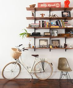 It's official: the bike is both a method of transportation and interior design accessory