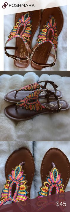 Brand new Coconut by Matisse beaded sandals Brand New without box. Vibrant color. Beaded detail. Buckle closure. Just stunning. 😘Offers are welcomed ❣️No Trade coconut by Matisse Shoes Sandals