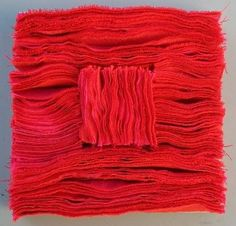 Prof. Hanns Herpich: Red stratification This work was supported at the IX.  International Baltic Triennial of Small Textile Art 2013 in Gdynia awarded the prize of the Marshal of the Pomorskie Voivodeship.