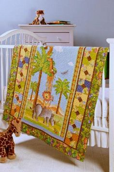 """""""A Tale as Tall as a Tree"""" quilt in Quilter's World's October 2012.  Grteat border for a kid's panel."""