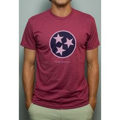 Tennessee State Pride Vintage Tee in Faded Red by Rowdy Gentleman