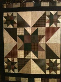 Flannel Quilt Patterns free quilt patterns jean and valori wells Big Block Quilts, Star Quilt Blocks, Star Quilt Patterns, Star Quilts, Canvas Patterns, Western Quilts, Country Quilts, Flannel Quilts, Plaid Quilt