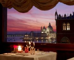TERRAZZA DANIELI at Hotel Danieli • Venice, ITALY • One of Venice's top restaurants located near Palazzo Ducale, the Grand Canal and St. Mark's Square on the top floor of Hotel Danieli. Enjoy rare views of the Venice lagoon, the island of San Giorgio, and romantic sunsets over the Grand Canal as it flows into Saint Mark's Basin... The restaurant has large picture windows and outdoor seating is available seasonally. • 39 041 522 6480 • www.terrazzadanieli.com