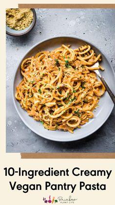 Vegan Dinner Recipes, Vegan Dinners, Pasta Recipes, Whole Food Recipes, Parmesan Recipes, Vegan Main Dishes, Vegan Pumpkin, Easy Weeknight Dinners, Recipes From Heaven