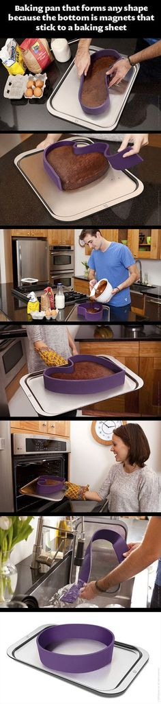 Baking Pan That Forms Any Shape  food cool baking cooking technology tech inventions innovative