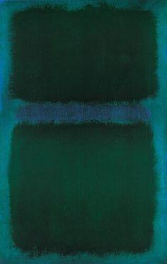 Mark Rothko ~ Blue Green Blue, 1961