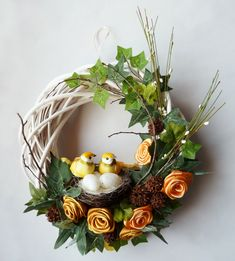 Deco Table, Easter Crafts, Grapevine Wreath, Recycling, Floral Wreath, Wreaths, Home Decor, Art Floral, Images