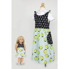 7f1804638979 Charley Dress  amp  Doll Kit  Lemons  amp  Tic Tac Toe  iloverileyblake  Riley