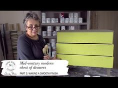 In Annie Sloan's newest video series, she shares how to create a smooth, flat finish with Chalk Paint®! See how she visually plans her project and mixes a gorgeous custom color for a sleek finish on a mid-century modern chest of drawers! Part 3 of 3