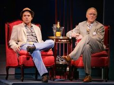 """Two Broadway greats, Norbert Leo Butz and John Lithgow, in """"Dirty Rotten Scoundrels""""."""