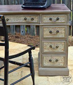 Simply Stone Creek : Decoupage Desk