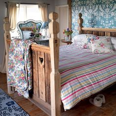 Mix and match bedroom quilts | Cosy country bedrooms - 10 of the best | housetohome.co.uk