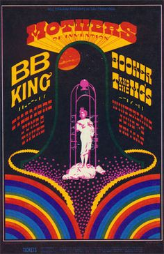 The Mothers of Invention Vintage Concert Poster from Fillmore Auditorium, Jun 1968 at Wolfgang's Rock Posters, Band Posters, Event Posters, Vintage Concert Posters, Vintage Posters, Norman Rockwell, Woodstock, Monet, Musik Illustration