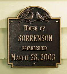 A perennial favorite, this USA-made Cardinal Wedding Plaque is a great wedding, house warming or anniversary gift.