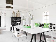 Muebles pintados con pintura de pizarra