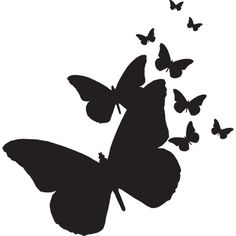 Top Flying Butterfly Silhouette Images for Pinterest Tattoos