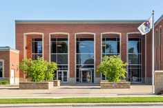 Morris Municipal Services building in Morris, IL creates architecturally appealing look with two shades of Glen-Gery Brick; Winnetka and Smoky Quartz (S72). #architecture #brick #glengery
