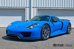 Voodoo Blue Porsche 918 Spyder on 20in HRE P101 Wheels | #butlertire #VoodooBlue #Porsche #918Spyder #HREWheels #michelin #sportcup2 #tires #exotic #hiperformance