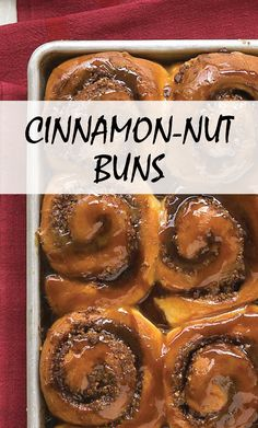 Cinnamon-Nut Buns | Martha Stewart Living - Our favorite sticky bun and sweet roll recipes.