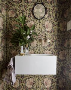 Brooklyn Row House 1 | Office of Architecture | Archinect Wiliam Morris Pimpernel wallpaper