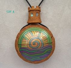 Check out this picture and the ones that follow!  So creative!  Makes me want to head out to the ocean today to find a treasure to hide inside.