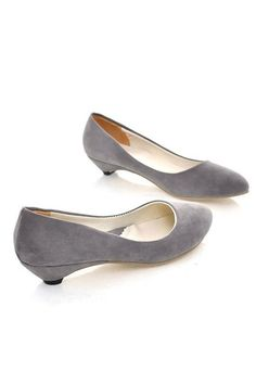 Charming Office Lady Pointed-toe Low-heeled Shoes- $58.00