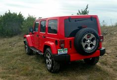 Wrangler Unlimited Sahara 4x4  in Firecracker Red Clear Coat color