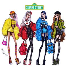 The #SesameStreet collection by Hayden Williams #BigBird #Elmo #CookieMonster #OscartheGrouch ❤️