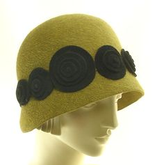 1920s Style Cloche Hat for Women   Beaver Felt by TheMillineryShop, $265.00