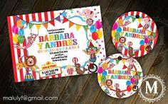 CIRCUS Birthday   DIY Printable Party Invitation by lfragoso, $15.00