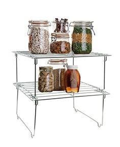 Lado Chrome Metal Kitchen Rack Storage Shelf 2 Levels (SI... https://www.amazon.co.uk/dp/B01B1WEZVK/ref=cm_sw_r_pi_dp_ihNGxbDK4X88B