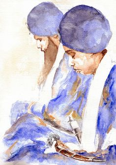 Beautiful Painting of Singhs Reciting his Name Sikhism Religion, Guru Gobind Singh, Punjabi Couple, Poetry Art, Girl Sketch, Indian Art, Cool Art, Art Photography, Canvas Art