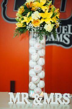 Baseballs as Vase Decor