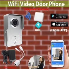 [Upgrade Version] Wireless Wifi Video Door Phone Intercom Doorbell Outdoor Waterproof Camera   Indoor Bell for cell phone * AliExpress Affiliate's Pin.  Locate the AliExpress offer simply by clicking the image