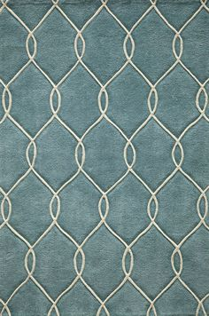 Dining room- Teal Interlink Rug