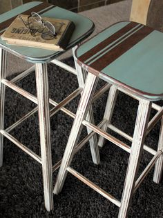 awesome stools @Julie Forrest Gates the picket fence