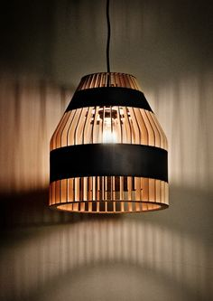 *lighting, pendant, design* - Lath Lamps by Jonathan Dorthe for Atelier D