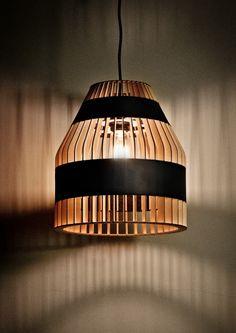 *lighting, pendant, design* - Lath Lamps by Jonathan Dorthe for Atelier D