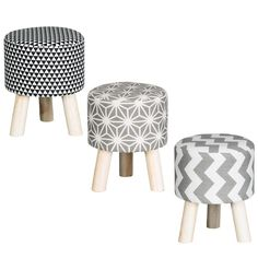 Patterned Footstool - This beautiful footstool will make a gorgeous home decor accessory to complement any room in the house - Buy your home decor at B&M