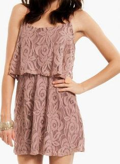 Laced Floral Mauve Dress