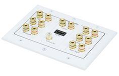 Rapallo 3-Gang 7.1 Surround Sound Distribution Wall Plate w/ HDMI Rapallo