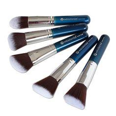 Winstonia Makeup Kabuki Brushes, Premium Quality Soft & Gentle Cosmetic Tool Set Perfect for Contour Foundation Blending Buffing Kabuki Brush Set, Soft And Gentle, Christmas Makeup, Makeup Set, Tool Set, Makeup Brushes, Foundation, Contour, Cosmetics