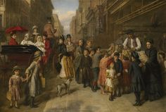Giclee Print: Poverty and Wealth, 1888 by William Powell Frith : Leicester, William Powell, English Artists, European Paintings, Pre Raphaelite, Victorian Era, Victorian Artwork, Victorian Women, Vintage Artwork