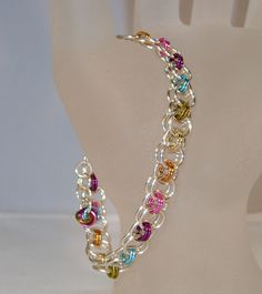 Rainbow Silver Helm Chain Design Chain Maille by ArtisticTouches